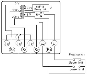upper-limit and lower-limit float switch